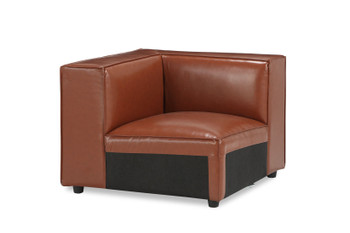 Bobby Berk Uph - Olafur Corner Chair - Vegan Leather