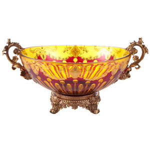Arca Amber Ruby Red Gold Bowl