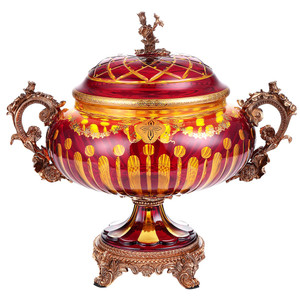 Arca Amber Ruby Red Gold Urn