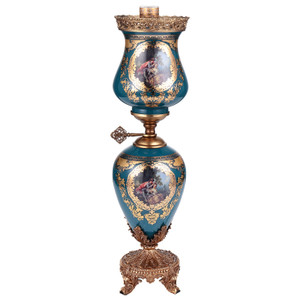 Beryl Deep Blue Gold Lamp
