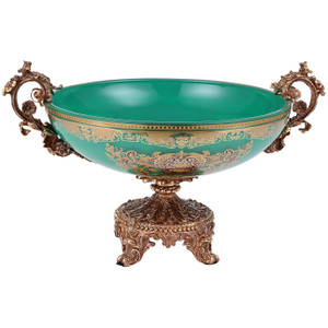 Zaria Emerald Green Gold Bowl