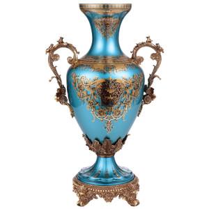Yzma Sapphire Blue Gold Vase