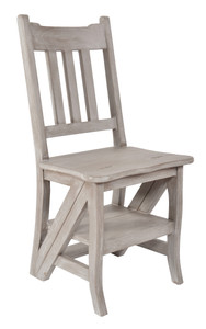 Mystique Gray Library Chair Stepladder