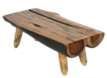 Teak Parisian Style 19.7 In Cutting Board With Natural Legs