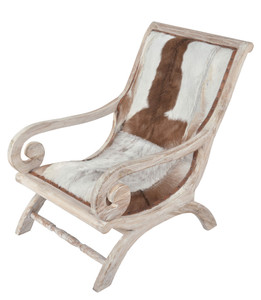 Hide Lazy Chair White Wash