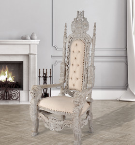 Mystique Grey Royal Lion King Chair