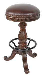 Church Street Leather Bar Height Stool