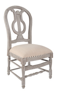 Mystique Gray Lyre Side Chair