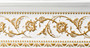 Beautifully finished in white featuring raised floral pattern details accented in gold.