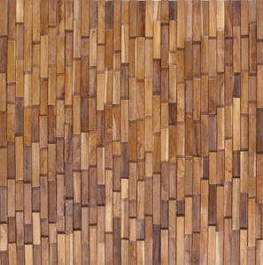Reclaimed Teak Rectangular Mosaic Wall Panel