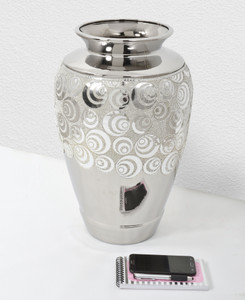 Silver Eclipse Vase 22 Tall