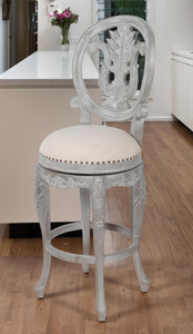 Mystique Gray Swivel Bar Stool