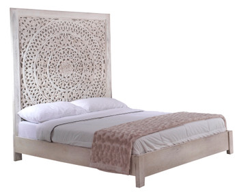 Carved Lace King Bed