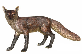 Bronze Standing Fox Special Patina 36 Inches Long