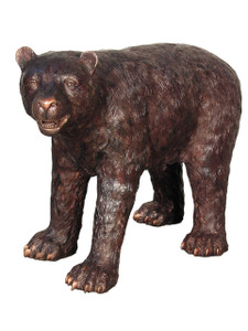 Bronze American Black Baby Bear Standing 36 Inches Long