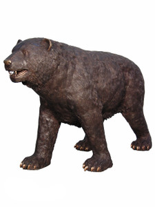 Bronze American Black Momma Bear Standing 66 Inches Long