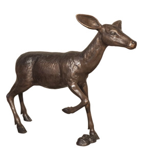 Bronze Fawn Standing 47 Inches Long