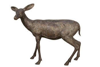 Bronze Doe Standing 57 Inches Long