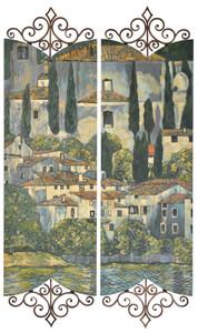 Iron Tuscany Village Wall Art Set of 2