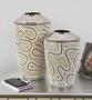 Silver Twist Graduated Vases Set of 2