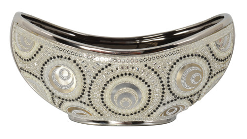 Silver and Gold  Eclipse Center Bowl
