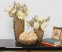 Caramel Gold Vases and  Bowl Set of 3