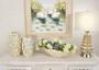 Silver Shimora Shell Vases Set of 2