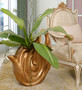 Copper Drizzle Abstract Vase