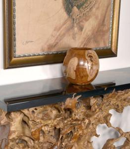 Large Teak Natural Vase