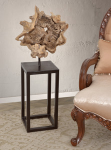 Teak Wood Natural  Stand Deco 39 Inches